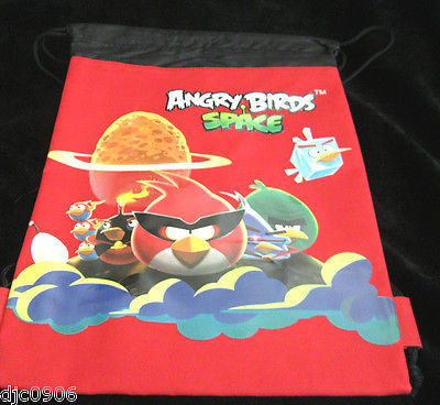 ANGRY BIRDS SPACE RED DRAWSTRING BAG BACKPACK TRAVEL STRING  BAG-ROVIO-NEW!!