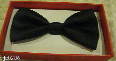Solid Black Kids Boys Girls Y-Style Back Adjustable Bow Tie & Red Kid suspenders