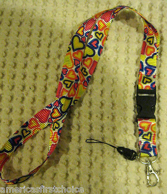 "Black Yellow Jamaican Jamiaca  Design 15"" lanyard for ID Holder Mobile Device"