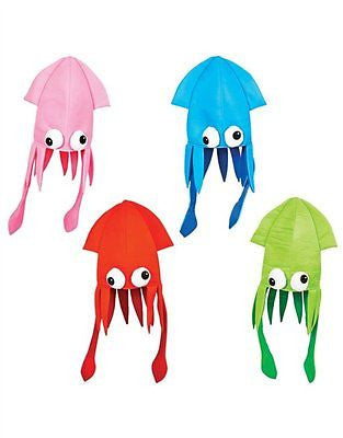 Hot Pink Squid Octopus Novelty Halloween Hat Adult Fun Silly-Brand New!