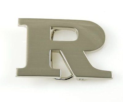 "Initial Letter Stainless Metal ""R"" Buckle-R Initial Belt Buckle-Brand New!"