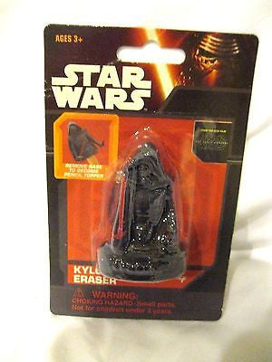 Disney Star Wars 3D Kilo Ren Eraser-Star Wars 3D Eraser-New in Package!