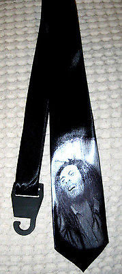 "Solid Black with Bob Marley Unisex Men's Tie Necktie 57""Lx 3W"" W-New in Package!"
