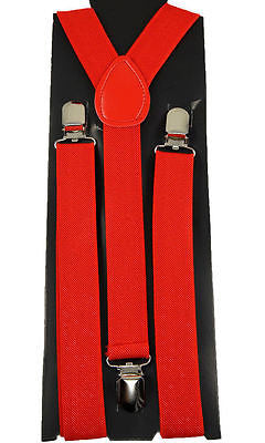 Unisex RED Adjustable Y-Style Back suspenders-New in Pkg!