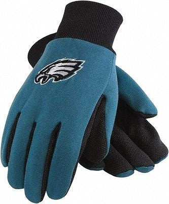 Eagles Green/Black with Raised Team Logo Licensed NFL Sport Utility Gloves-New!