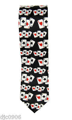 "Unisex Black with White Mustaches Neck tie 56"" L x 2"" W-Mustache Neckwear Tie"