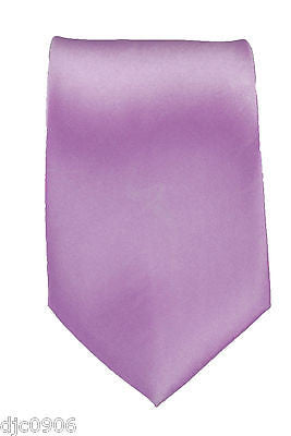 "Unisex Lavender Light Purple Silk Feel Neck tie 56"" L x 3"" W-Purple NeckTie-New"