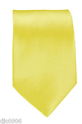 "Unisex Yellow with Brass Knuckles Silk Feel Polyester Neck tie 56"" L x 3"" W-New"