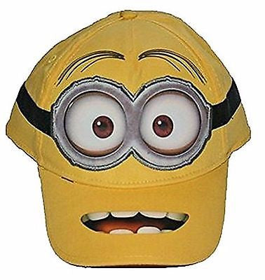 Despicable Me 2 Minion Embriordered Stuart Adjustable Baseball Cap Snapback-VER2