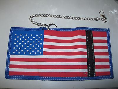 "American Flag Canvas Wallet Unisex Men's 4.5"" x 3"" W-New in Package!Styles vary"
