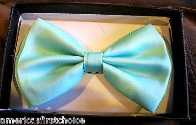 Unisex Men's MINT Green Classic Bow Tie Adjustable Unisex PreTied Bow Tie-New!