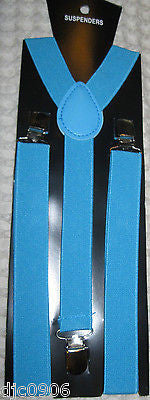 Blue Paisley Tuxedo Bow Tie & French Blue Adjustable Suspenders Combo-New!!