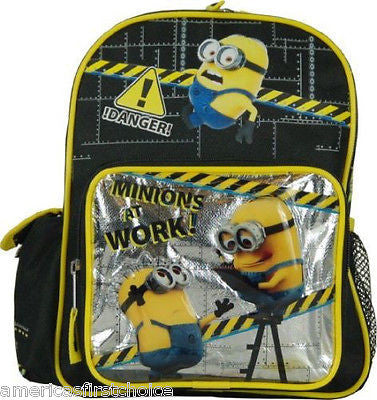"Despicable Me 2 Minion Minions at Work 10"" Backpack Back Pack Universal-New!"