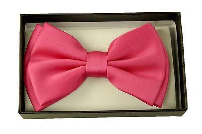 Unisex HOT PINK Tuxedo Classic BowTie Neckwear Adjustable Bow Tie-New