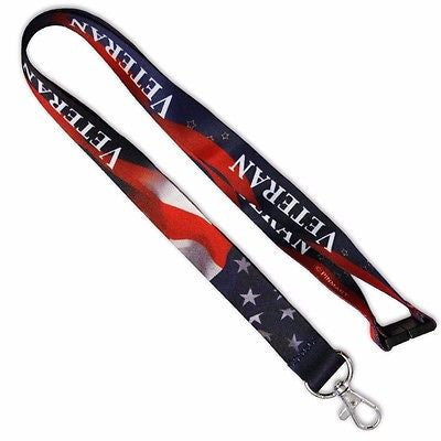 Official Licensed Products American Flag Veterans Lanyard-Brand New with Tags!