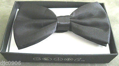 BLACK TUXEDO ADJUSTABLE  BOW TIE BOWTIE-NEW IN FACTORY BOX!BLACK BOW TIE