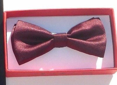 Kids Boys Girls Burgundy Maroon Adjustable Bow Tie-New in Gift Box! version2