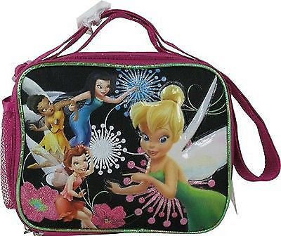 Tinkerbell&Fairies Insulated Lunch Bag Lunchbox-Tinkerbell Black Lunchbox-New!
