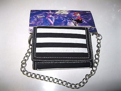 "Black and White Stripes Stripped Wallet Unisex Men's 4.5"" x 3"" W-New in Package!"