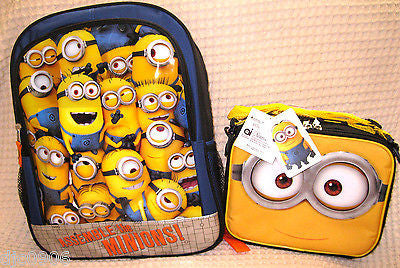 Despicable Me 2 Assemble the Minions Backpack & Lunch Box Universal-New Tags