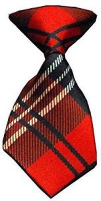 Pet's Dog Cat Red Plaid Adjustable Neck Tie-Dogs Cats Red Plaid Necktie-New!