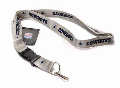 Dallas Cowboys Blackout Licensed Keychain/ID Holder Lanyard-Brand New!