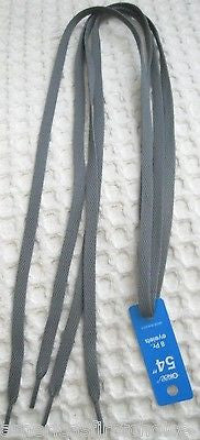 Premium Dark Charcoal Gray Grey Design Rockabilly Punk Shoe laces Shoelaces-New!