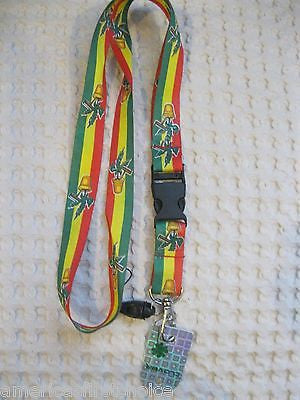"Red and White with Betty Boop Character 15"" Lanyard/Landyard ID Holder Keychain"