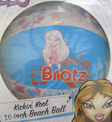 "Bratz Cartoon 16"" Beach Ball by Fox Television Network/MGA Entertainment-New!"
