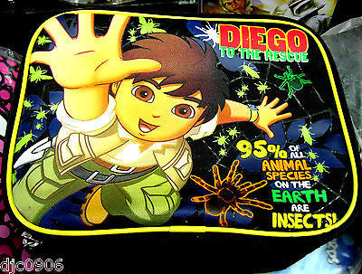 Go Diego Black Insulated Lunch Bag by Nickelodeon Nick Jr-New!Go Diego! Lunchbag