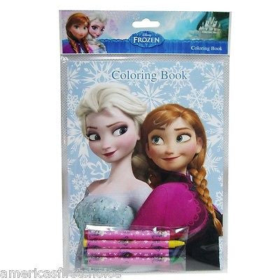 Disney Frozen (4 different designs) Anna Coloring Book & Crayons-New in Package!
