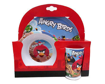 Angry Birds Mealtime Dinnerware Set Includes Plate Bowl and Cup by Angry Birds