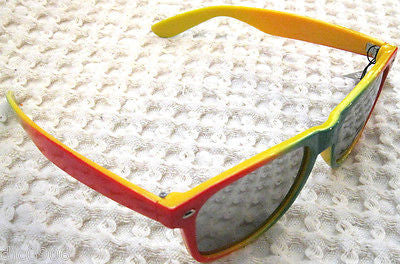 Unisex Rasta Red,Yellow,Green Wayfarer Glasses Sunglasses-New with Tags!