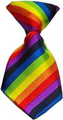 Pet's Rainbow Stripes Adjustable Neck Tie-Dogs Cats Rainbow Stripes Necktie-New!