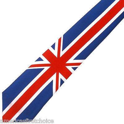 "British English England Flag Red,White,Blue Unisex Men's Tie Necktie 57"" Lx3"" W"