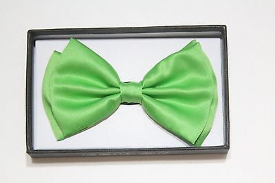 LIME LIGHT GREEN TUXEDO ADJUSTABLE  BOW TIE BOWTIE-NEW IN GIFT BOX!GREEN BOW TIE