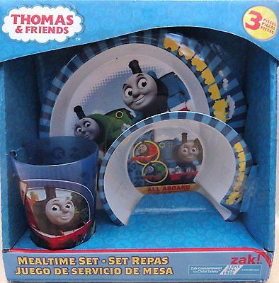 Thomas the Train & Friends Mealtime Dinnerware Set Includes Plate Bowl and Cup