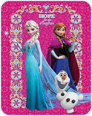 Frozen Hope Sisters Elsa & Anna and Olaf the Snowman Blanket/Throw-Brand New!