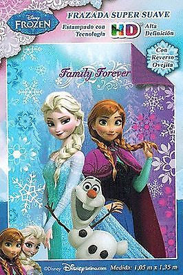 Disney Frozen Ultra Soft Blanket/Throw Olaf,Anna,and Elsa Family Forever-New!!!