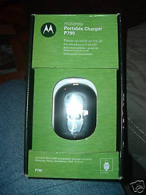 MOTOROLA P790 BLACK PORTABLE CHARGER-NEW IN BOX!
