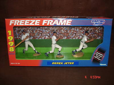 Derek Jeter 1998 Kenner Starting Line-up Freeze Frame-3 Figure New York Yankees