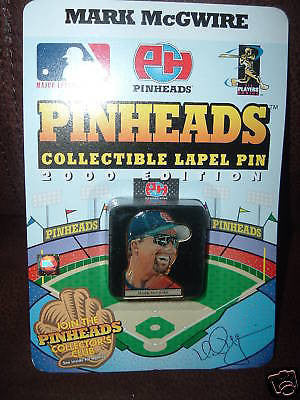 Mark McGwire 2000 Pinheads Collectible Lapel St. Louis Cardinals Pin-New