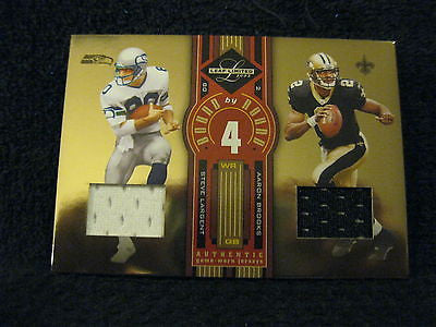 Aaron Brooks/Steve Largent 2005 Leaf Limited Round by Round 2clr Patch #ed 7/75