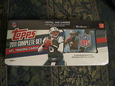 2011 TOPPS 440 CARD FOOTBALL SET W/ PACK OF 5 RCS IN SET+4 CLR CAM NEWTON PATCH