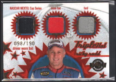 RICKY RUDD 2005 WHEELS TRIPLE HAT 3-CLR PATCH SP#/190