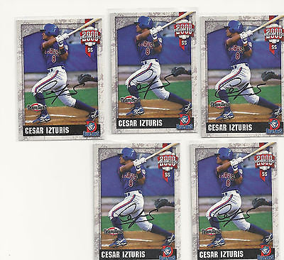 Cesar Izturis ROOKIE 2000 Team Best  AUTO RC LOT Toronto Blue Jays Autographs!