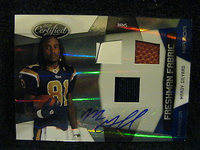 MARDY GILYARD RC 10 LEAF CERTIFIED 3-COLOR SHOE/JERSEY/BALLAUTO BLUE MIRROR#/50