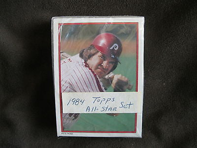 1984 TOPPS ALL-STAR COLLECTOR'S EDITION MAIL-IN REDEMPTION 40 CARD SET-MINT!
