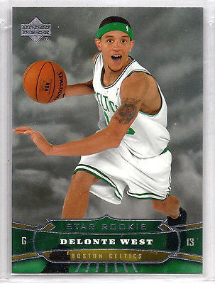 Delonte West ROOKIE 9-CARD LOT 2004-05 Bowman Chrome,BD,Topps,Topps Chrome,UD