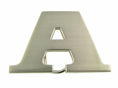 "Initial Letter Stainless Metal ""A"" Buckle-A Initial Belt Buckle-Brand New!"